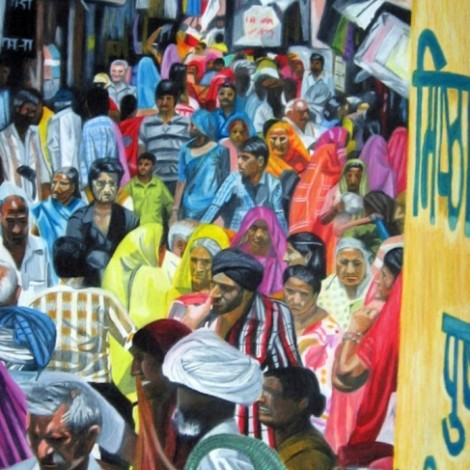 Market crowd, Pushkar