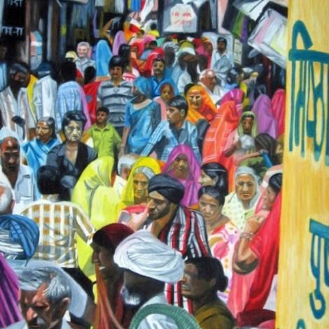 Market crowd, Pushkar